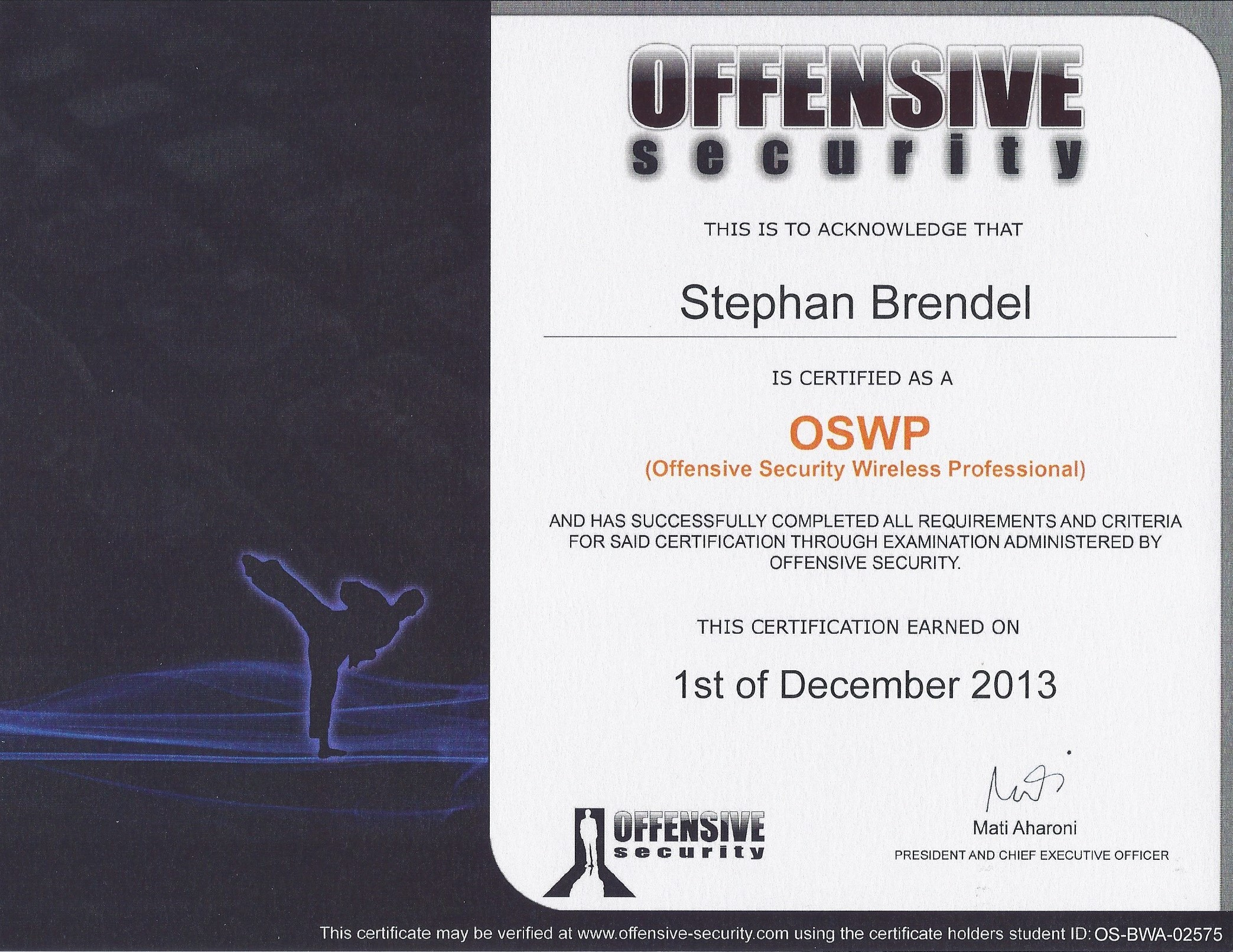 Offensive Security Wireless Professional (OSWP)